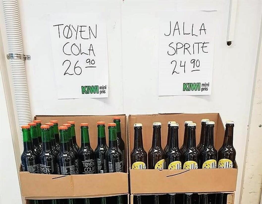Tøyen Cola og Jallasprite. Foto: Thomas Myrseth