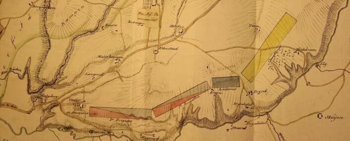 Kartoppmerking av Etterstad-leiren.