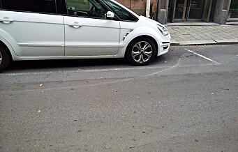 – I Dronningens gate har bymiljøetaten laget en lukrativ «parkeringsfelle». Gateoppmerkingen etter tidligere parkeringsplasser er ikke fjernet