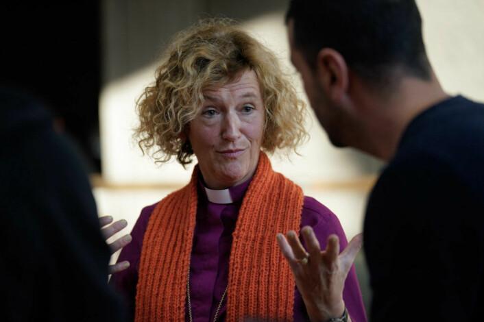 Biskop Kari Veiteberg i går. Foto: Torstein Ihle