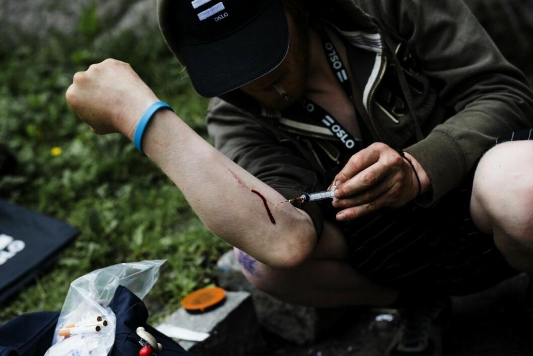 .. Sprøytebrukere som mistenker at de kan ha fått en infeksjon, må snarest kontakte fastlegen sin eller feltpleien i Oslo. Da vil de få hjelp, opplyser velferdsetaten. Foto: Christian Vassdal