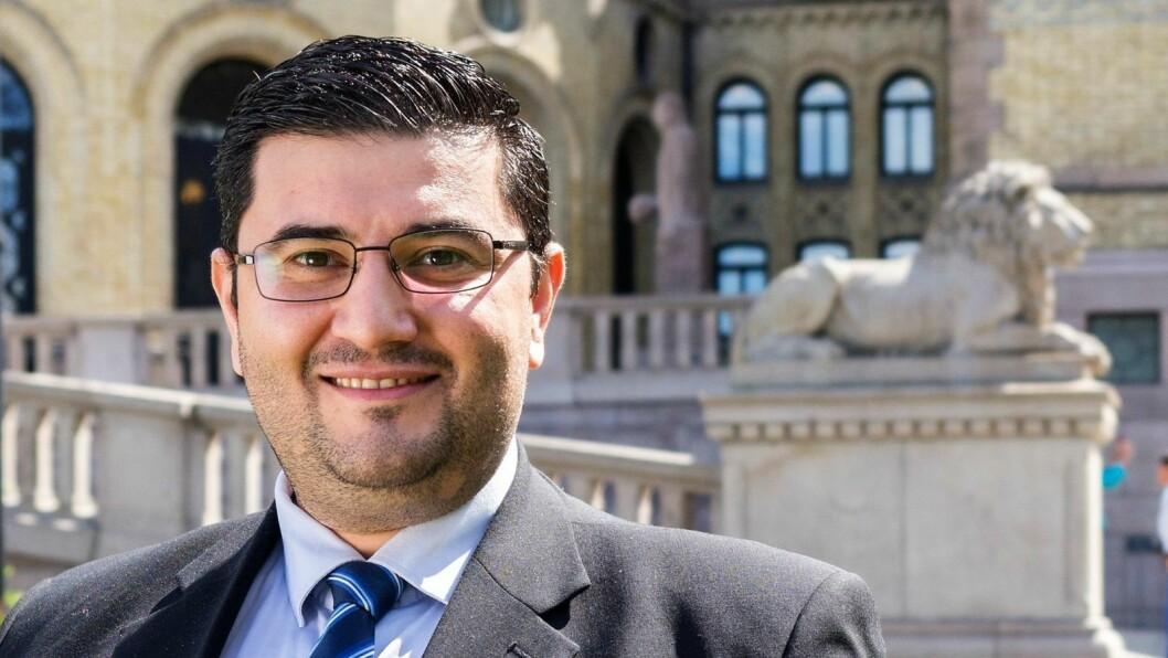 Leder av Oslo Frp, Mazyar Keshvari, har erkjent å ha jukset med reiseregninger. Samlet har 37-åringen levert udokumenterte krav på 290.000 kroner i reiseregninger til Stortinget. Foto: Frp
