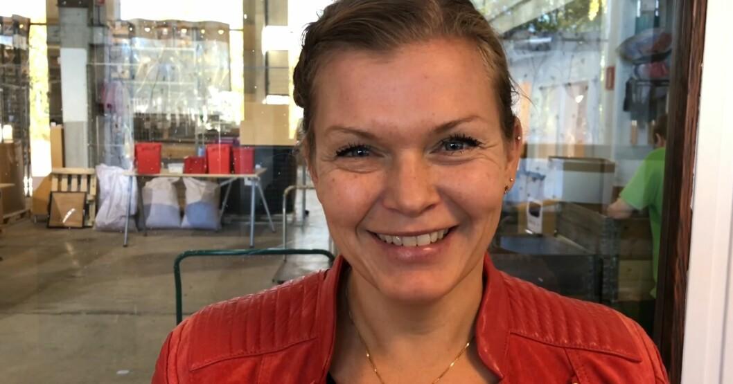 Camilla Berg Johnsen, Jobb- og markedsveileder i OsloKollega. Hun hjelper folk i jobb. Skjermbilde fra video av Thea Leivestad