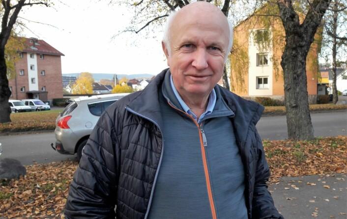 Terje Laurendz, daglig leder hos hovedsponsor Torshov Sport, kom til Skeidbanen for å delta på opprykksfesten. Foto: Anders Høilund