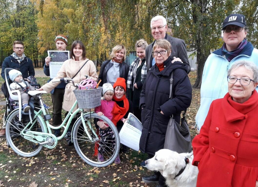 Engasjementet for å få ferdigstilt parken er stort. Foto: Anders Høilund
