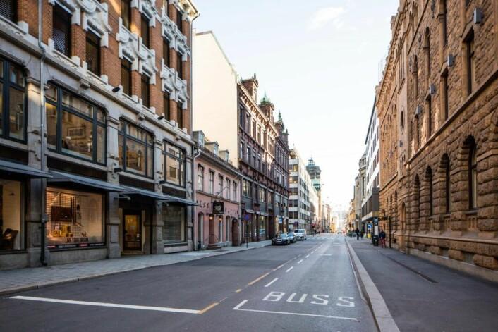 Butikkeiere i Kongens gate opplever prostitusjon som et stadig økende problem etter innføringen av byrådets prestisjeprosjekt Bilfritt byliv. Foto: Stig Jensen