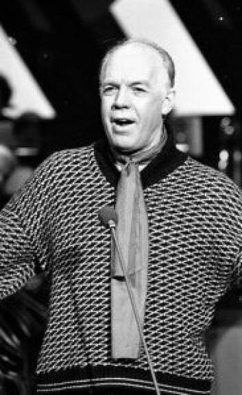Lasse Kolstad under Spellemannsprisen 1980. Foto: Arne Nielsen / Riksarkivet