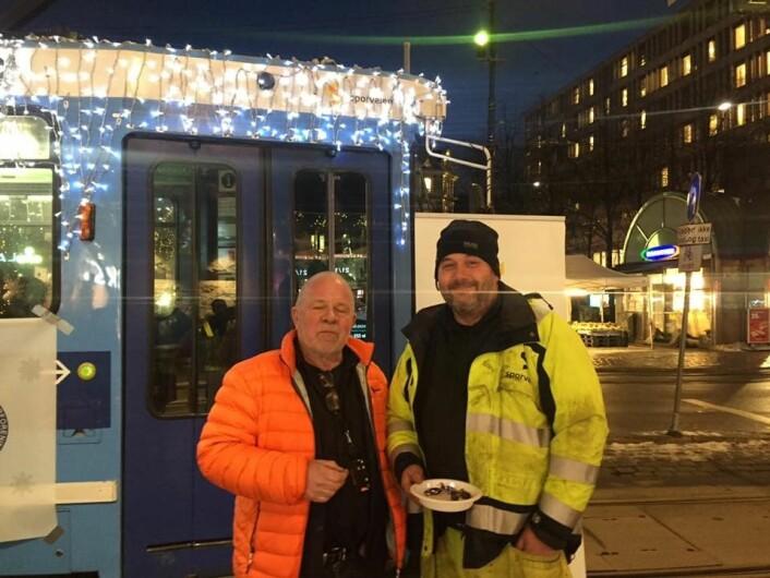 Rune Aasen (til venstre) og hans kolleger i Sporveien har bidratt til å gjøre selskapet til et av verdens mest effektive. Foto: Privat