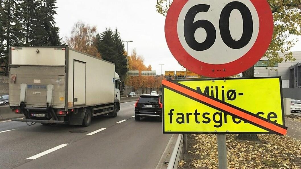 Det blir ny, lavere miljøfartsgrense på veiene i Oslo. Foto: Heidi Fjørtoft Klokk / NRK