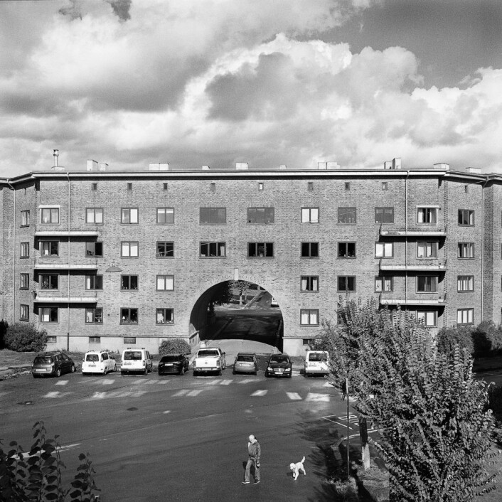 """Pportalgården på Søndre Åsen på Torshov har vært forfatternes """"andre hjem"""" de siste fire årene.. Foto: Brian Cliff Olguin"""