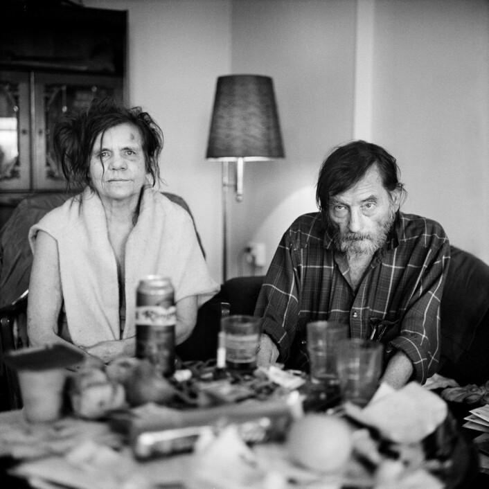 Helge og Anniken har kjent hverandre siden de jobbet sammen for et flyttebyrå en gang på nittitallet. Foto: Brian Cliff Olguin