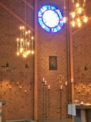 Nye Prinsdal og Hauketo kirke er tegnet av arkitekt Arne Sæter. Foto: Kjersti Opstad