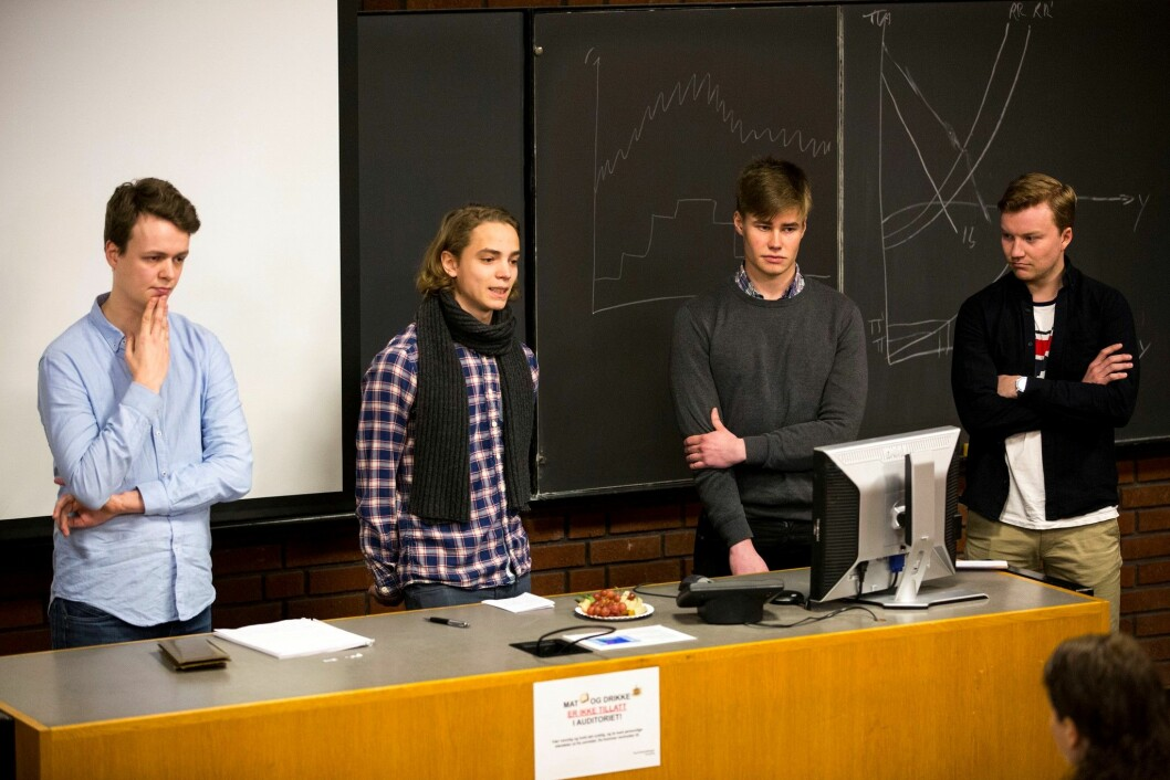 Studenter i samfunnsøkonomisk analyse ved Universitetet i Oslo. Attraktive arbeidstakere for Oslo kommune. Foto: Norges Bank / Flickr