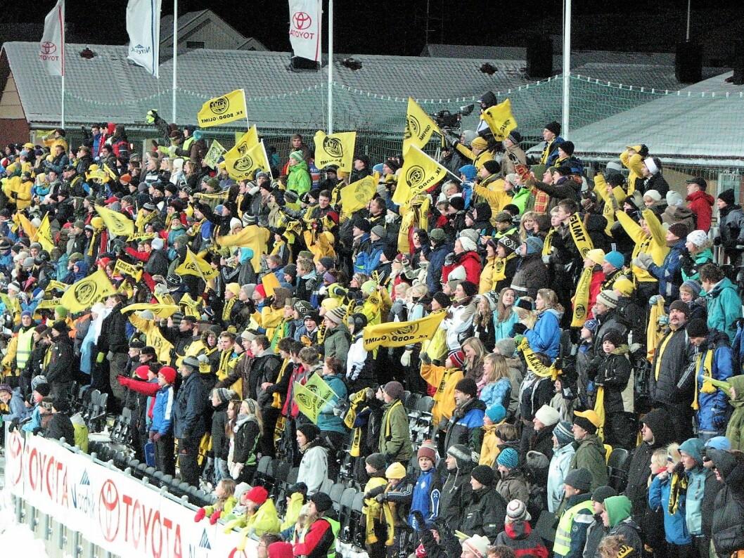 Spennende kamp mellom Vålerenga og Bodø/Glimt på Aspmyra stadion. Illustrasjonsfoto: Lars Røed Hansen  Wikipedia