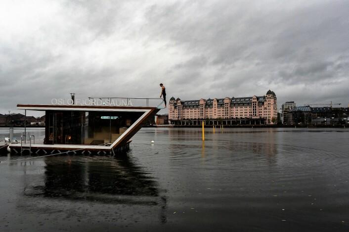 Oslo Fjord Sauna og havnelageret. Foto: Erik Holland Haukebø