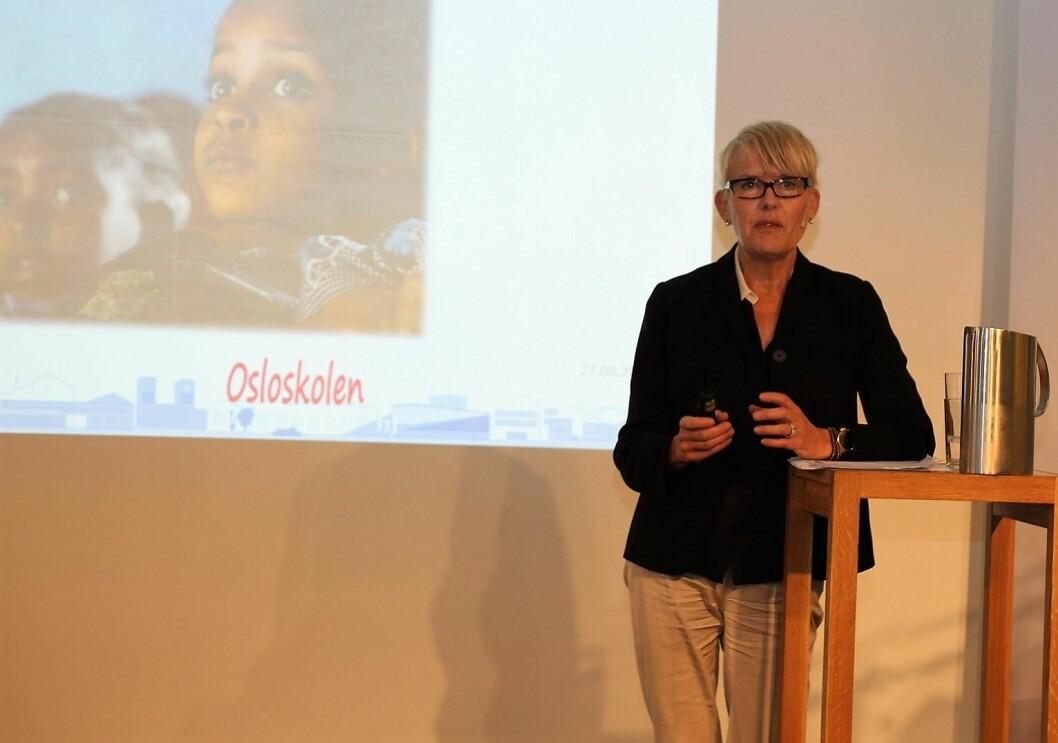 Utdanningsdirektør i Oslo, Astrid Søgnen, fratrer 1. desember. Foto: Akademikerne