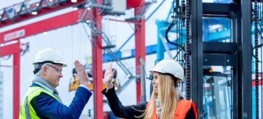 Oslos containerterminal anskaffer el-trucker. Har null utslipp som mål