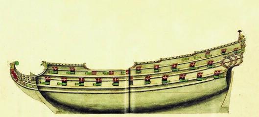 I 1647 ble det største krigsskipet i den dansk-norske fellesflåten sjøsatt fra Hovedøya