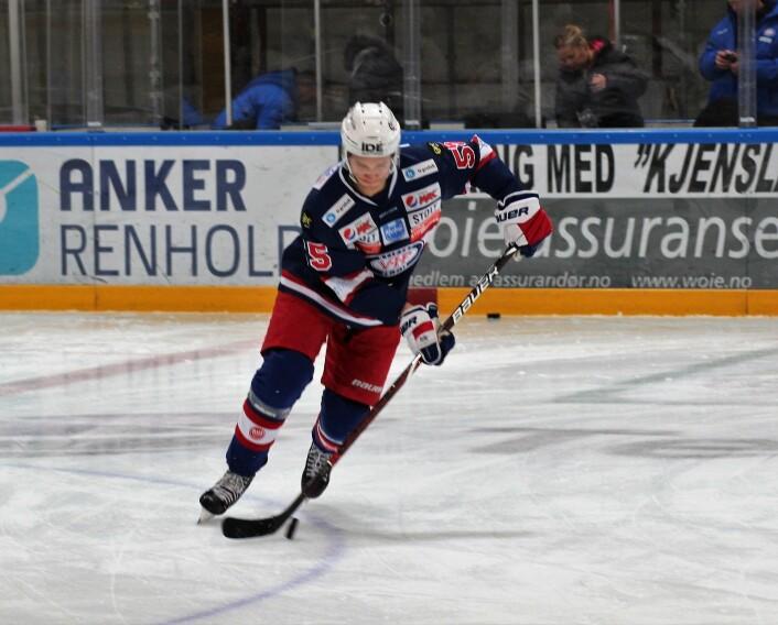 Brede Csiszar scoret VIFs første mål. Foto: André Kjernsli