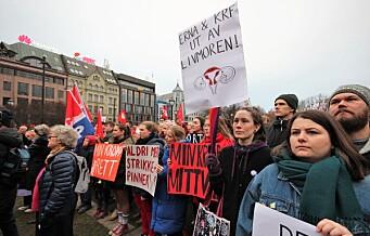 Mange opprørte appellanter i dagens demonstrasjon mot å tukle med abortloven