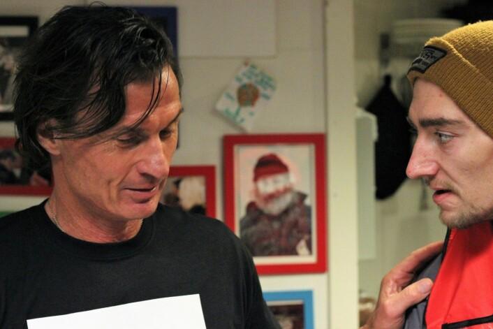 Det ble tid til noen gode samtaler også, her er Petter Stordalen i prat med Kriss André Bogstad. Foto: André Kjernsli