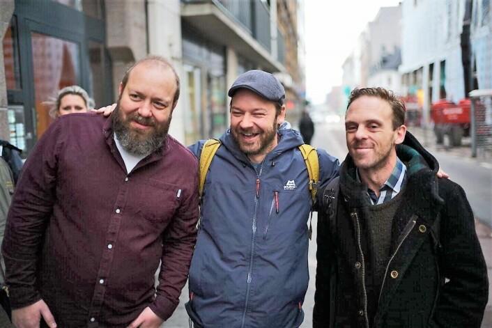 Fv. Even Skyrud fra =Oslo, Petter Nyquist og Richard Prøsch fra =Kaffe. Foto: Niklas Mørkland