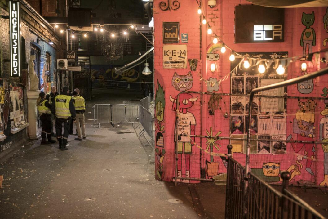 Politiet fikk melding om slagsmål inne på det populære utestedet Blå på Grünerløkka.  Foto: Vidar Ruud / NTB scanpix