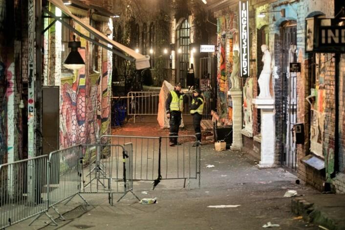Minst to personer skal være knivstukket i Oslo natt til søndag.<br />Foto: Vidar Ruud / NTB scanpix