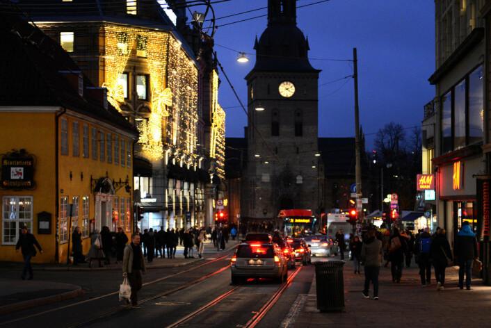 Årets julebelysning på Glassmagasinet. Foto. Morten Lauveng Jørgensen