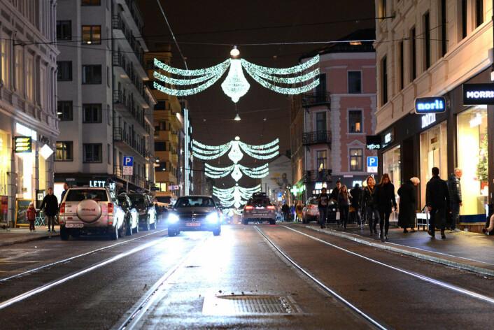 Jul i Bogstadveien. Foto. Morten Lauveng Jørgensen