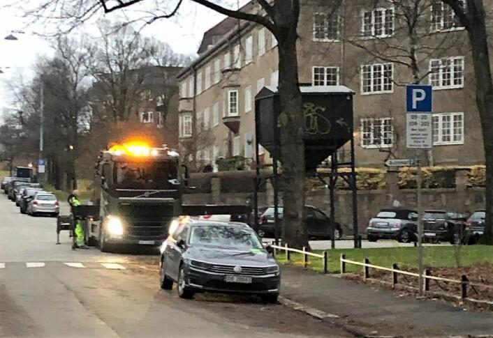 Midt i november forberedte Hadeland maskindrift vintersesongen i bydel St.Hanshaugen Foto: Bojan Djordjevic