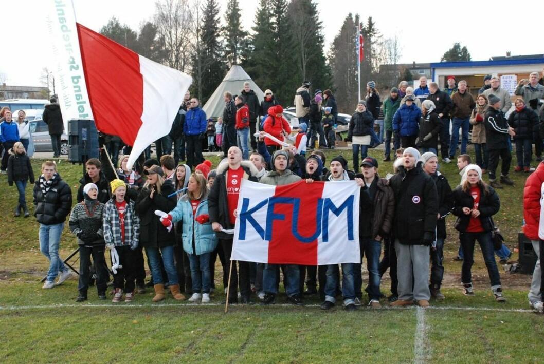 KFUM Oslo-fansen kan glede seg over at laget deres neste år vil spille i OBOS-ligaen. Illustrasjonsfoto: Skaga/ Wikimedia Commons