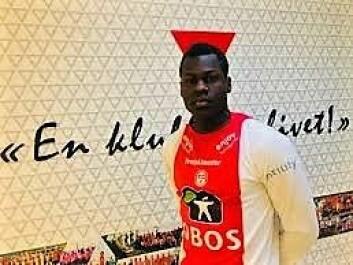 Toppscorer Moses Mawa sto for en av scoringene i opprykkskampen. Foto: KFUM Oslo