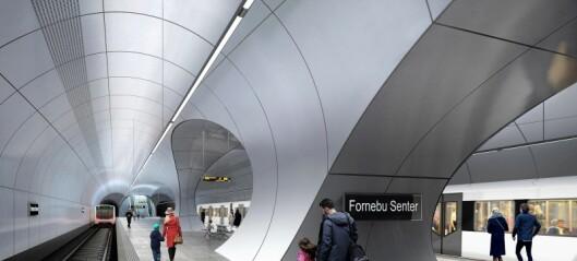 De nye stasjonene på Fornebu-banen blir ikke monumentale praktverk lover byråden