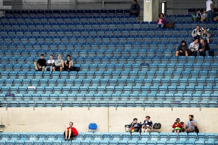 Stadig færre tar turen for å se Eliteserien i fotball. Under årets sesong sank det totale tilskuerantallet med vel 200.000. Illustrasjonsfoto: Carina Johansen / NTB scanpix
