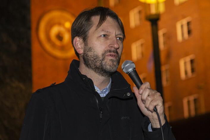 Eirik Lae Solberg (H) ble buet da han innrømte at Høyre støttet bomstasjonene. Foto: Morten Lauveng Jørgensen