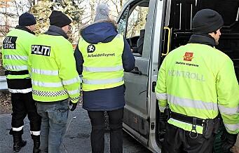 Under varebilkontroller i Oslo fant trafikkontrollører 16 mulige trygdesvindlere