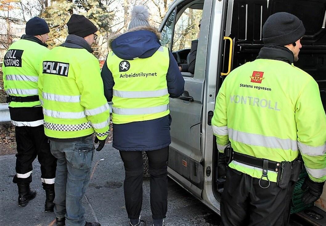 En rekke offentlige etater gikk sammen i uka som gikk for å kontrollere varebiler under 3500 kilo. Foto: a-krimsenteret i Oslo