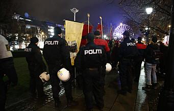 Flere pågrepet etter slåsskamp under demonstrasjon ved Stortinget