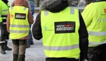 Kontrollørene ønsker ikke å vise ansiktene, siden de regelmessig gjennomfører uanmeldte kontroller i ulike bransjer. Foto: a-krimsenteret i Oslo