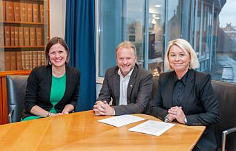 Blåblå regjering og rødgrønt byråd underskrev avtale om videre satsing i Oslo indre øst
