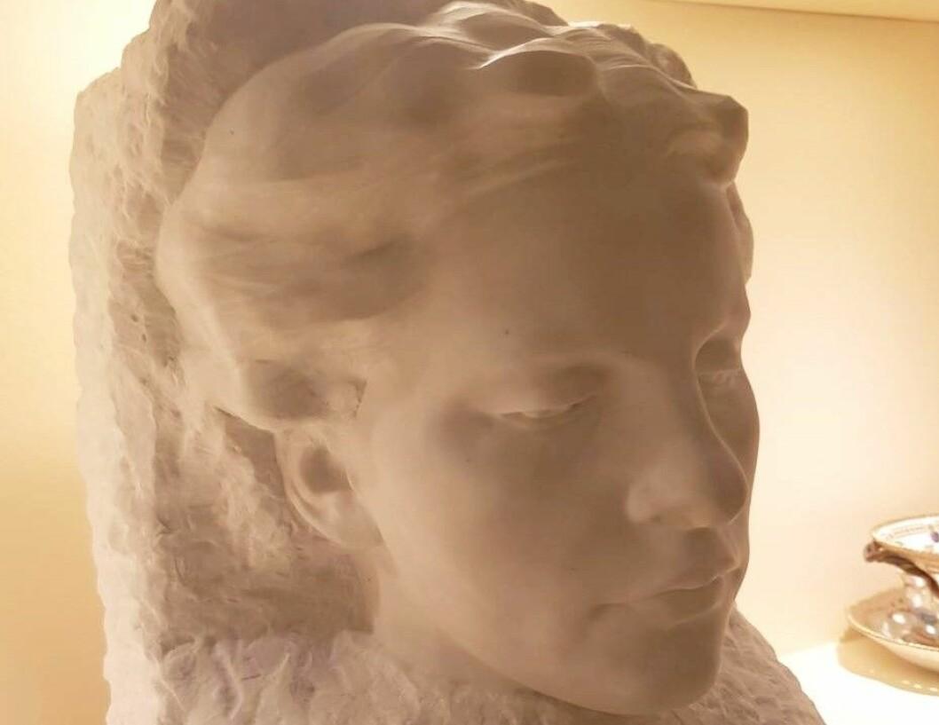 Den forsvunnete skulpturen Kvinneportrett. Foto: Jarle Strømodden / Vigeland-museet