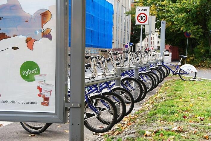 Stadig vekk er problemet at det ikke er mulig å sette fra seg sykkelen på stativet. Foto: Ann Baekken / Flickr