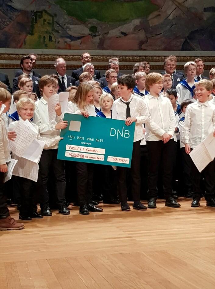 Bislett guttekor mottar et stipend på 10.000 kroner. Foto: Martin Henrik Andresen