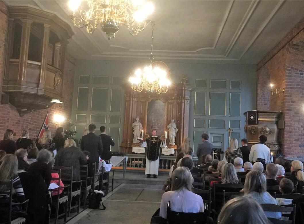 Akershus slottskirke sett fra nesten bakerste benk. Foto: Kjersti Opstad