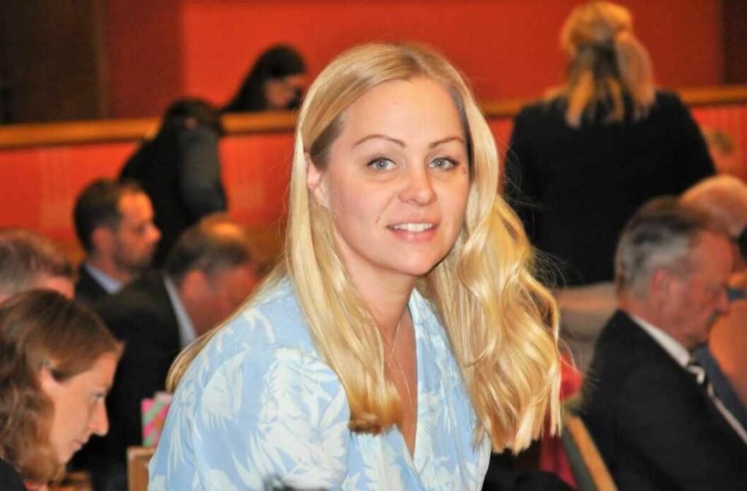 Rødts gruppeleder Eivor Evenrud klarte å redusere byrådets kutt til Frelsesarmeens Jobben med to millioner kroner i forhandlinger med Ap, SV og Miljøpartiet. Foto: Arnsten Linstad