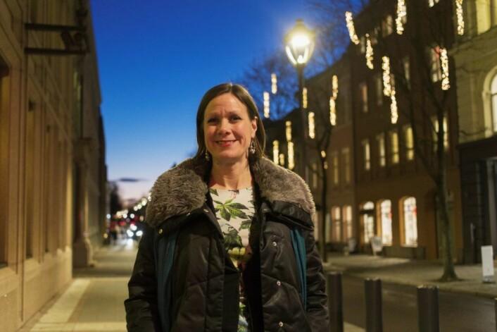 Byråd for byutvikling, Hanna E. Marcussen ønsker at flere oppdager butikker og spisesteder i Kvadraturen. Foto: Kristina Søgnebotten Lang-Ree