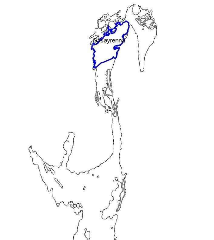 Gåsøyrenna mellom Nesodden og Bærum er et av områdene fiskeridirektoratet ønsker å verne mot alt fiske i torskens gytetid fra 1. januar januar til og med mars. Illustrasjon: Fiskeridirektoratet