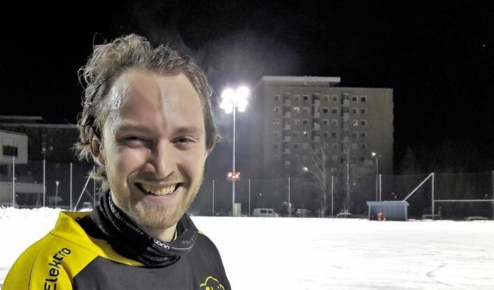 Bendik Mjaaland (22) debuterte for Skeid mot Røa. Han har tidligere spilt for Ullevål. Foto: Anders Høilund