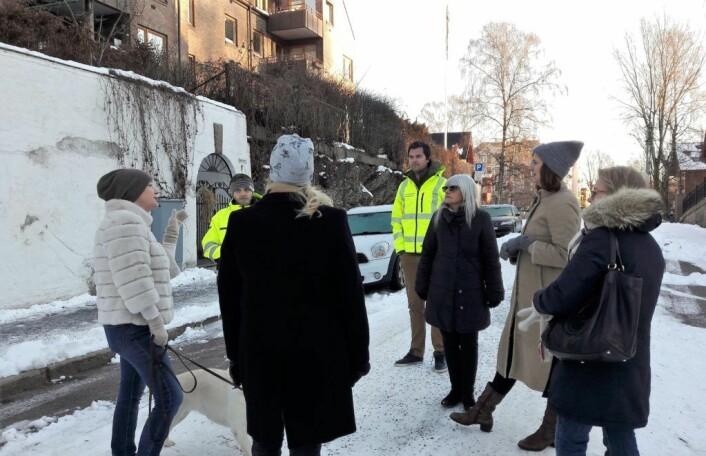Her i Wolfs gate fant befaringen en plassering som kna være mer egnet for grussiloene enn nede ved parken Lille-Jacob. Foto: Anders Høilund